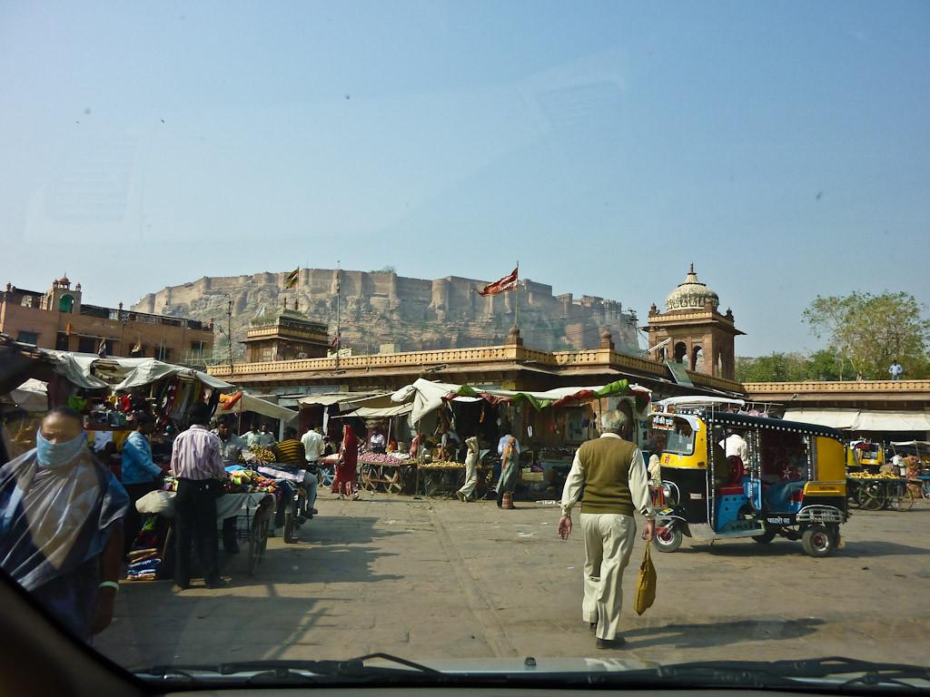View of fort from market, Jodhpur, Rajastan