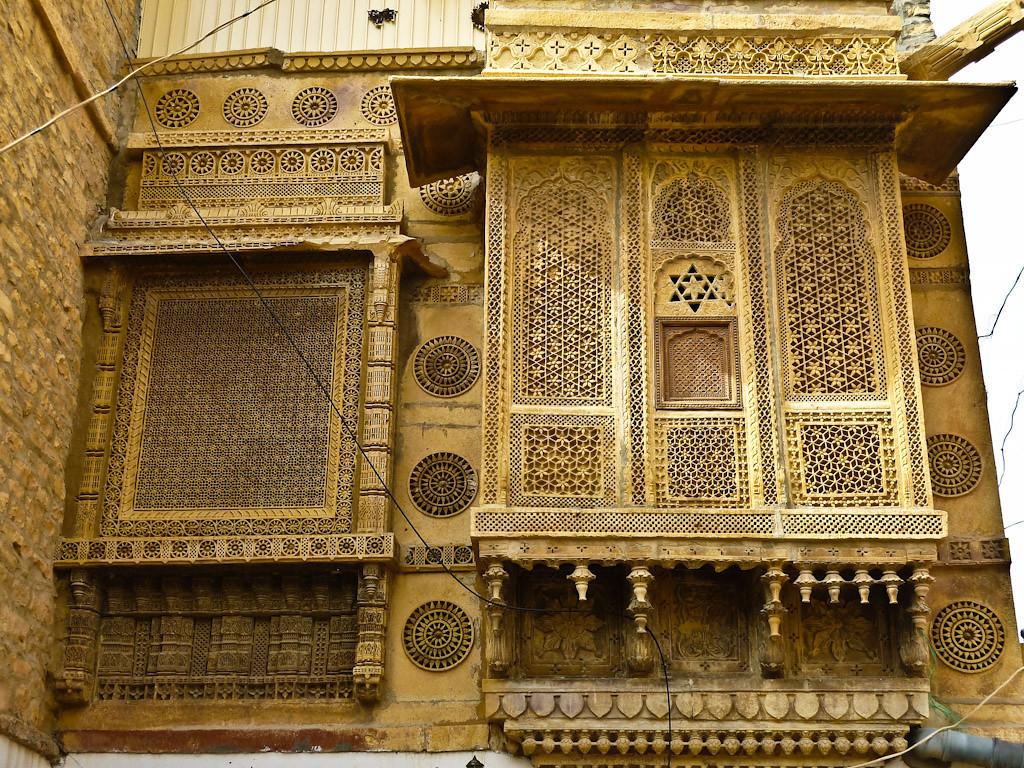 Amazing fine detailed stone screens.