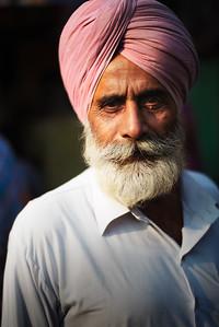 A Sikh man in Amritsar, India.