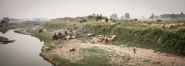 A remote village area. Punjab, India