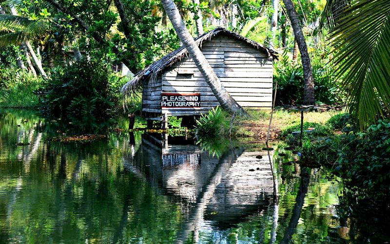 Kerala backwaters on India's Malabar Coast.