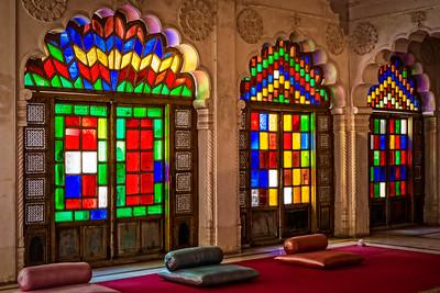 Audience room, Jodhpur fort.