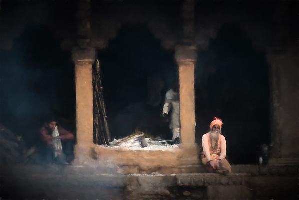 The eternal flame, Varanasi