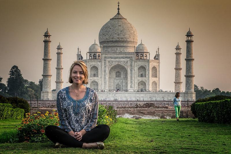 Mallory and Gloria at the Taj