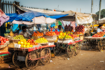 One of the ubiquitous produce markets that abound on every street.
