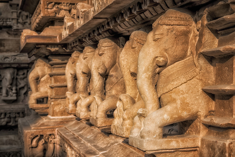 Detail from one of the Khajuraho temples.