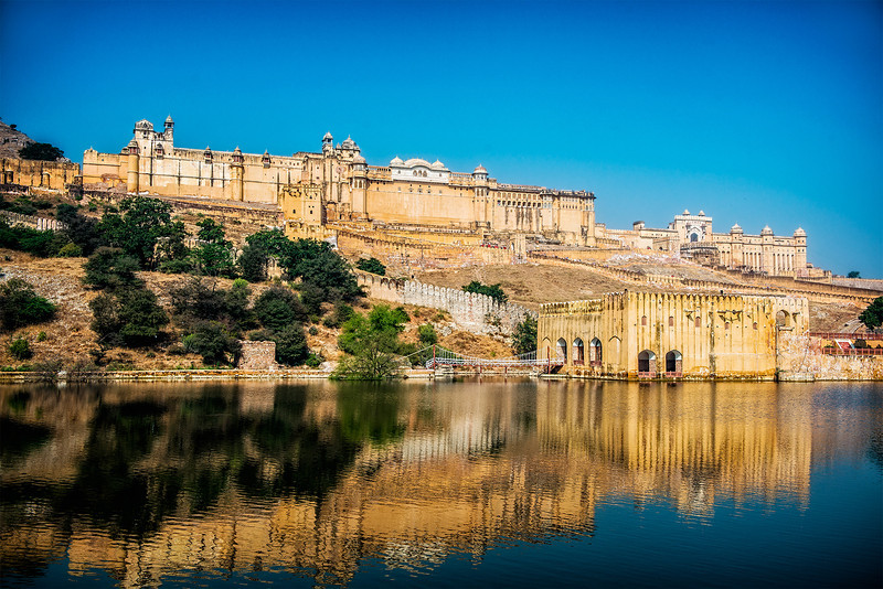 The Amber Fort in Jaipur, entered via the elephant ride.