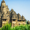 The main temple in the west Khajuraho complex. An incredible group of Hindu and Jain temples, built over a period of 200 years from 950-1150 A.D.