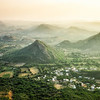 Looking west from an abandoned hilltop palace, just outside of Udaipur.