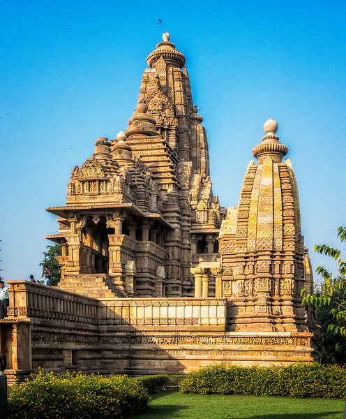 The main Vishnu temple at Khajuraho.