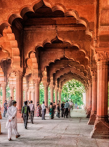 Inside the Red Fort, New Delhi.