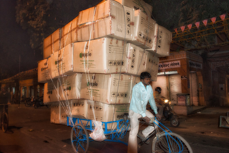The local Apple computer delivery man in Jaipur.