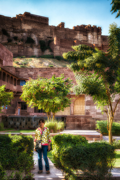 The Hotel Raas in Jodhpur. A beautiful hotel located just below the Mehrangarh Fort. A very comfortable location, except for the Moslem mosque just next door, and the call to prayer over a loudspeaker at 5:45 AM. The hotel provided complimentary ear plugs.