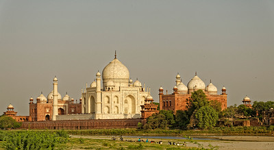 A slightly different angle of the great mausoleum, from across the river.