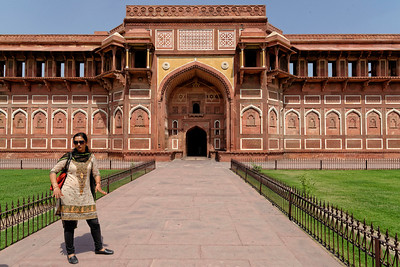 One of the entry points to the Agra Fort, home and then prison of Shah Jahan, the builder of the Taj Mahal and husband of Mumtaz Mahal, both of whom are buried in the Taj.