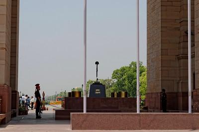 The cenotaph below India Gate, India's national war memorial.