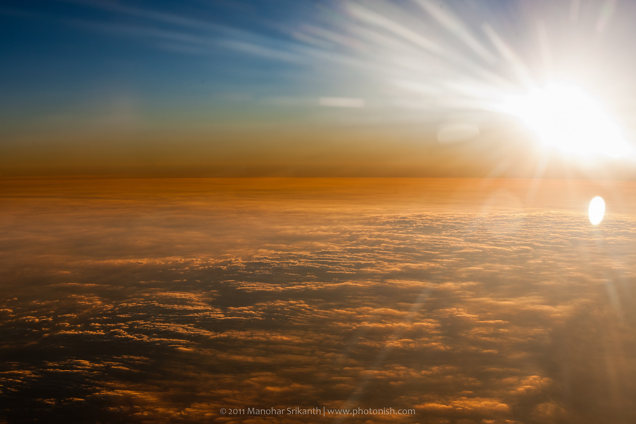 Can't remember. Sun set during flight from Pune to Bangalore?