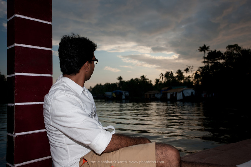 Me sitting on the house boat.