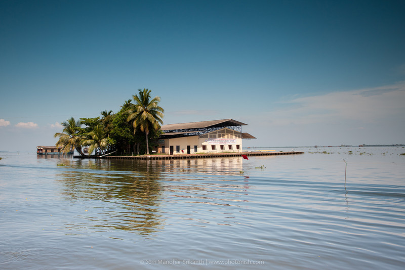 House Boat, cruising. Alleppey, Kerala.