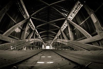 Cox Covered Bridge Floor Level