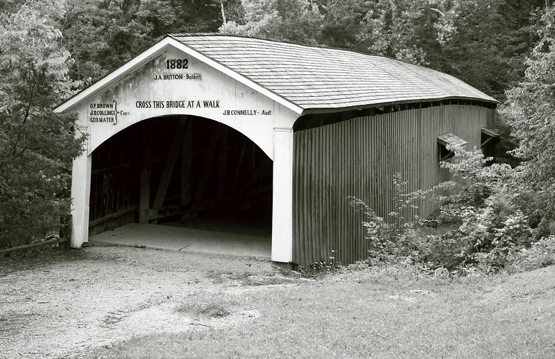 Narrows Covered Bridge, Scenic Turkey Run State Park, Indiana