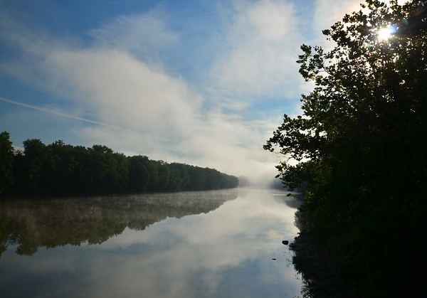 Beautiful Foggy morning on the Wabash River.