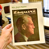 """Esquire Magazine cover of October 1967 with headline of, """"This man ought to be the next President of the United States"""", on this picture of J.I. Miller on the magazine cover."""