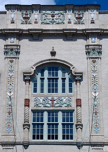 Detail of side of Morris Performing Arts Center - South Bend, IN