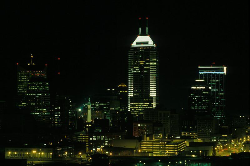 Indianapolis, Indiana skyline.