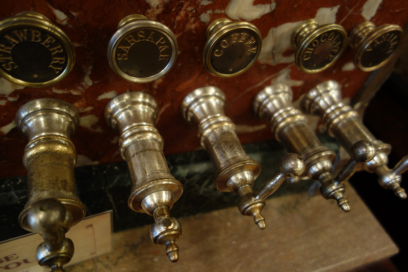 Turn of the century drink dispenser