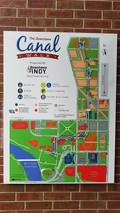 The map of the Canal Walk.