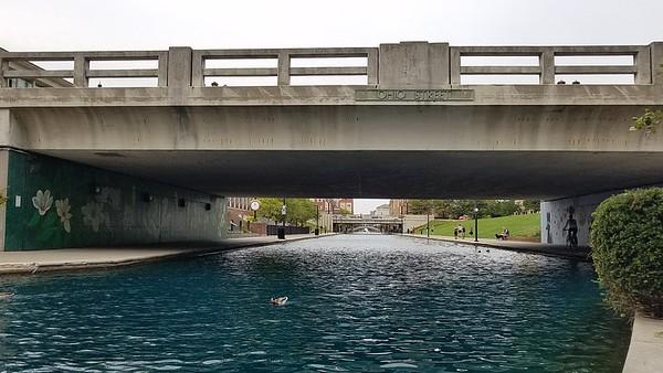 Ohio Street bridge over the canal.