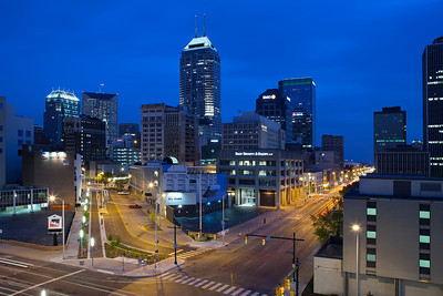 Indianapolis Blue Hour.