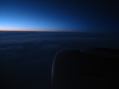 Sunrise over Iceland, 1am Chicago time.