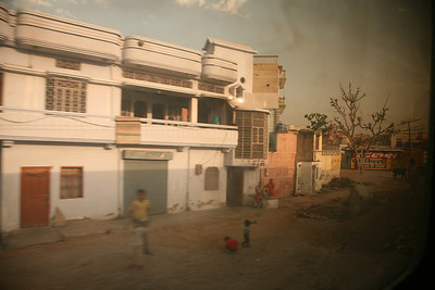 Out the train window from Delhi to Jaipur.