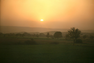Sunset over Rajasthan.
