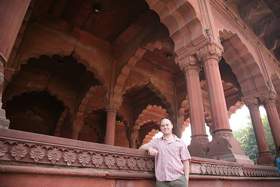 Dave at the Red Fort.