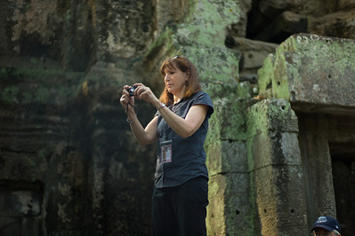 Diane Paul at Angkor Wat.
