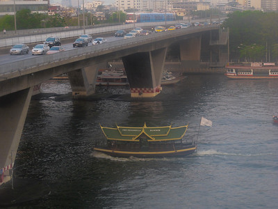 Rush hour on the Chao Phraya River, Bangkok, Thailand.