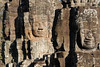 Four faces at Angkor Thom Temple.