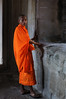 Buddhist Monk at Angkor Wat Temple.