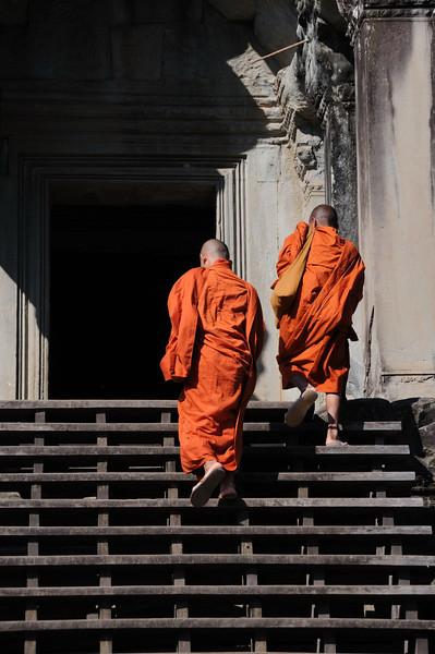 Monks at Angkor Wat Temple.