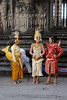 Traditional dress at Angkor Wat Temple.