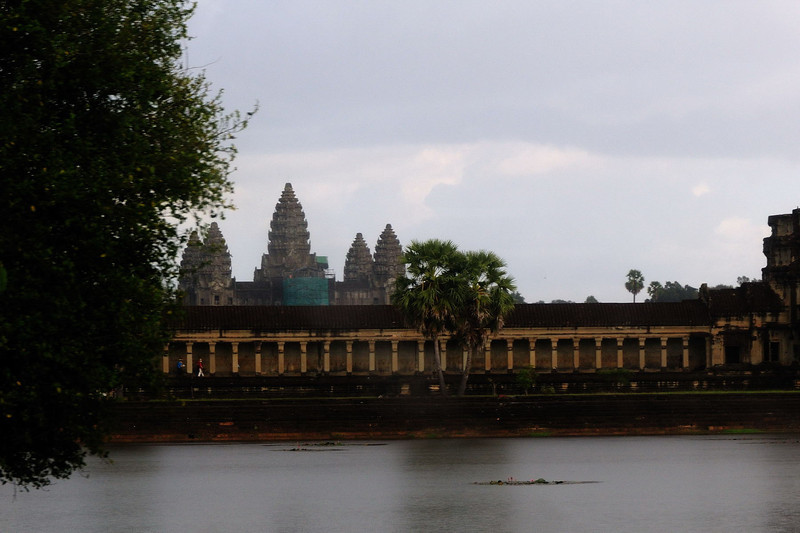 View of Angkor Wat from the west across the moat.