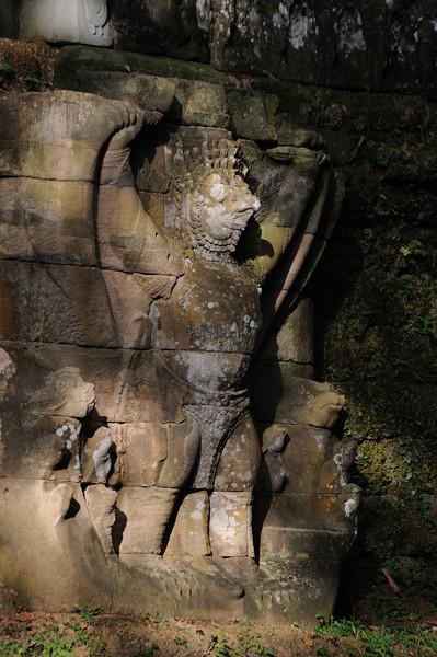 Preah Khan Temple. Characteristic carving.