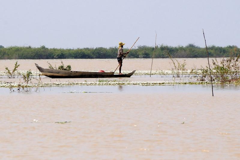 On Tonlé Sap Lake.