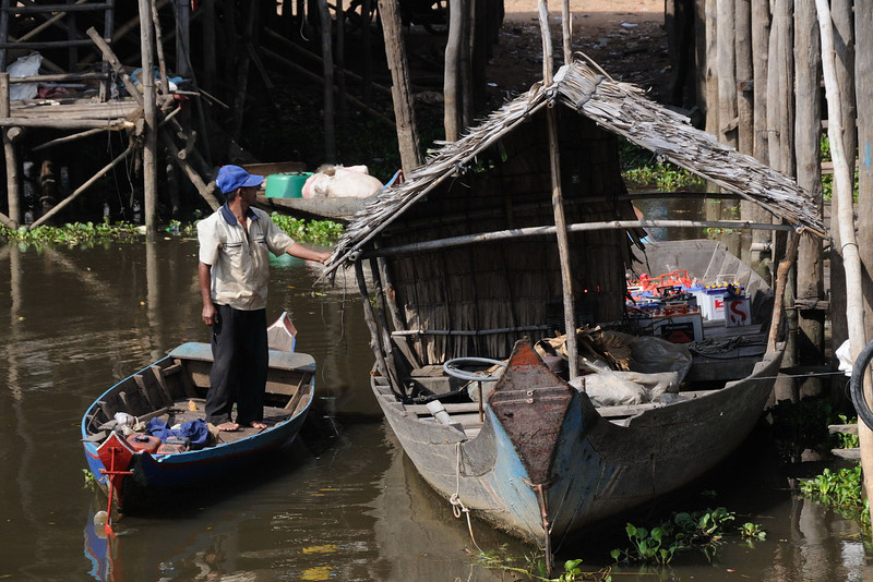 Kampong Phulk village on Tonlé Sap Lake.