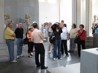 The Museum of Cham Sculpture.  Burt Rein, Mark Aronowitz, Fran Aronowitz, Gerry Paul, Marti Minker (taking photo), Gretchen Lengyel, George Cobb, Renee Mirsky, Linda Shyavitz.