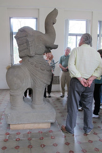 The Museum of Cham Sculpture.  Sherri and Gerry Paul, David Minker (back to camera).