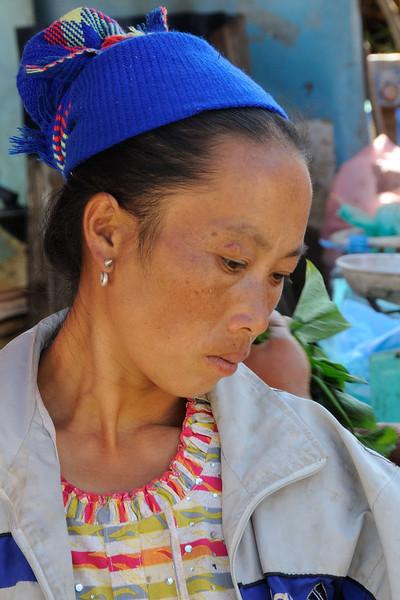 Market trader at Phou Khoun (just off highway 13 between Luang Prabang and Vang Vieng).